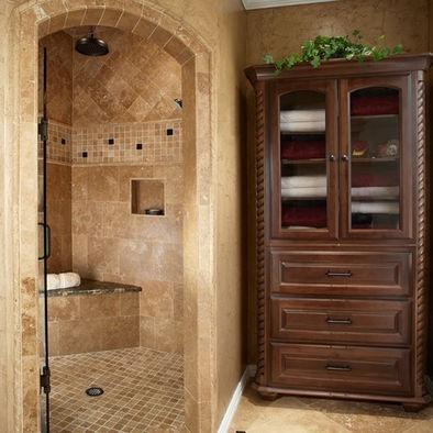 Traditional Bathroom Tiled Shower Design