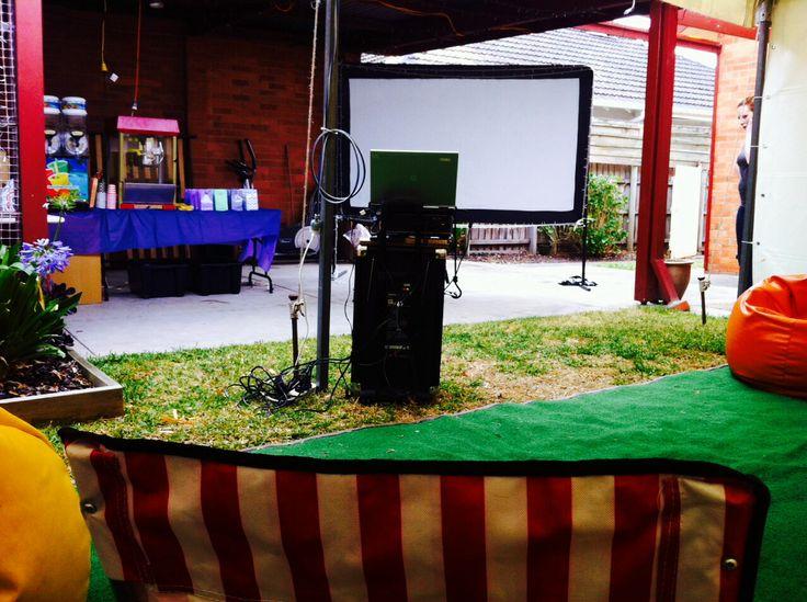 Backyard Movie nights  http://backyardmovienight.wix.com/backyardmovienights