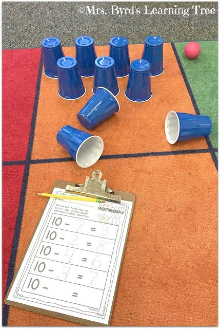 FREE recording sheet for subtraction bowling from 10.  (Mrs. Byrd's Learning Tree)