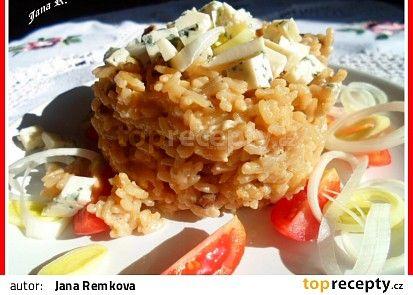 Houbové rizoto s Nivou recept - TopRecepty.cz