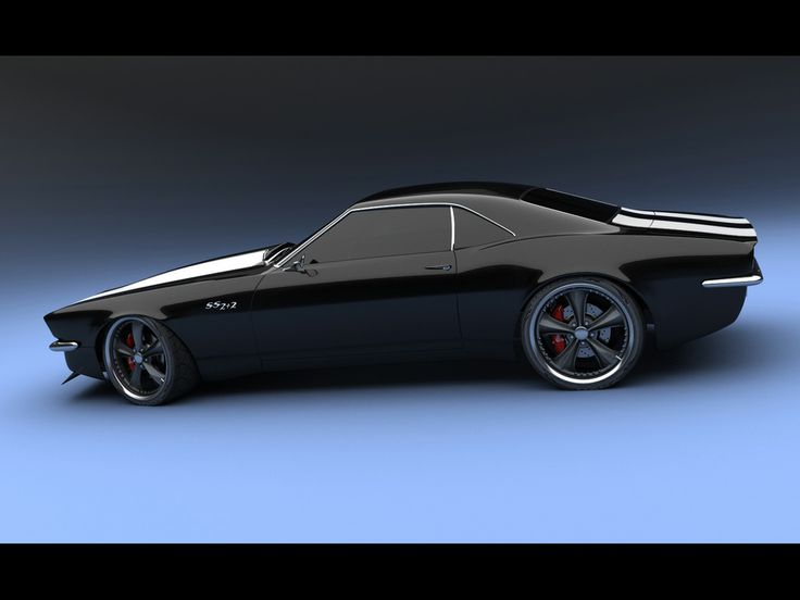 Camaro Concept SS 2+2 1967 by Bo Zolland - Black Side - 1024x768 - Wallpaper