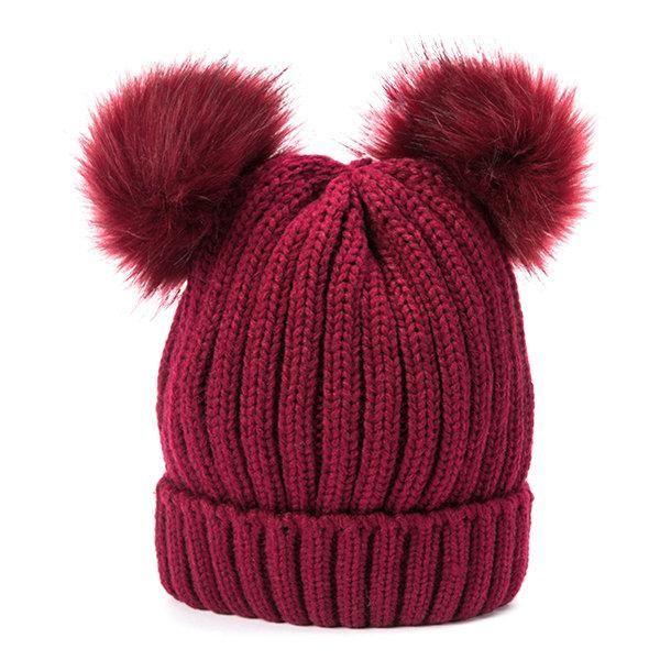 469d5105e4c Womens Knit Pom Pom Bucket Beanie Cap Soft Comfortable Fashionable Winter  Warm Outdoor Snow Hats