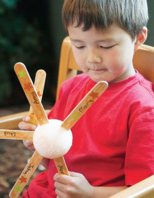 Prayer: This looks quirky and fun.  You write the prayer requests on the sticks and then stick them in a styrofoam ball.  I think it would be fun to choose some very specific needs to pray for over a term and then have the children remove the sticks as the prayers are answered.