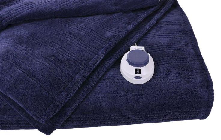 Micro-Plush Low Voltage Electric Heated Triple Rib Throw Blanket warmer pad mat