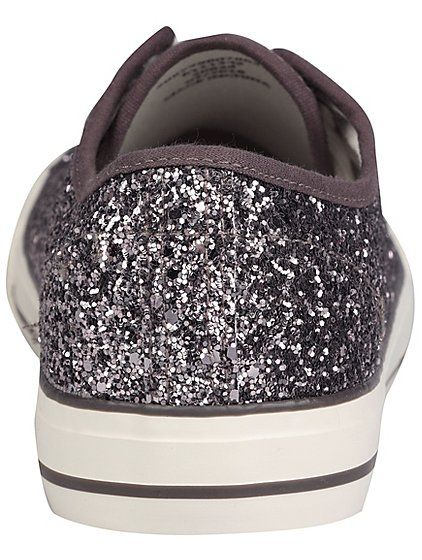 92efe77bf47 Lilac Glitter Canvas Lace Up Pumps