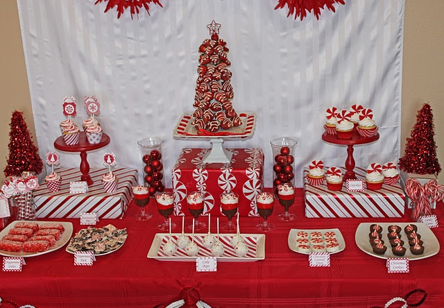@Kay Richards Langley recital theme? peppermint christmas dessert table #christmas #peppermint