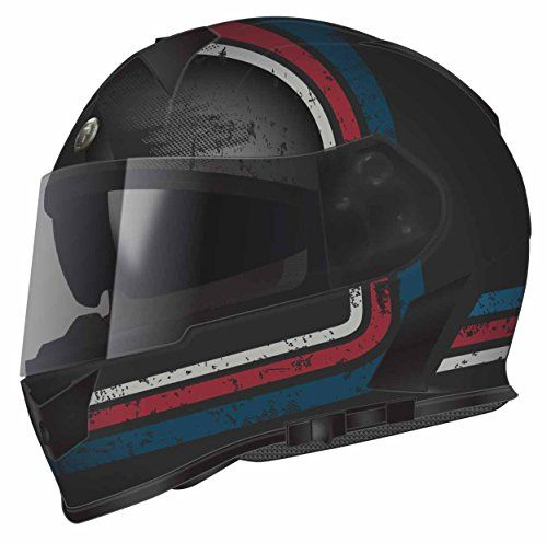 Torc T14B Blinc Loaded Streamline Mako Full Face Helmet (Flat Black with Graphic, Small)