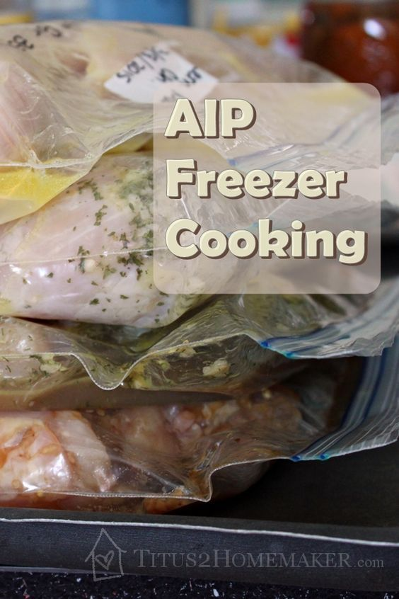 AIP-Friendly Freezer Cooking -- Titus 2 Homemaker -- 9 simple, freezable recipes safe for the Autoimmune Paleo diet