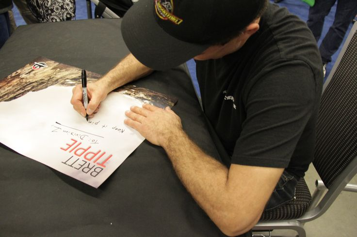 #BrettTrippie signing autographs @Vancouver Bike Show after #trialbike demo