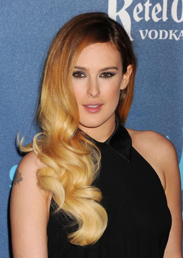 What is Ombre Hair Color? (Rumer Willis w/ brown-to-blonde gradient hair)