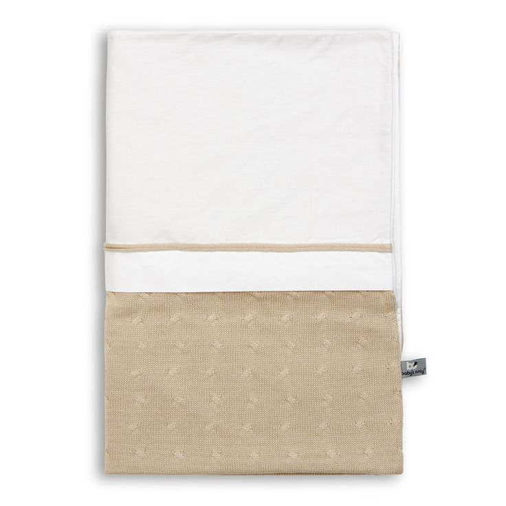 Cable Uni - Duvet cover 135x100 - beige  by Baby's Only - www.babysonly.nl
