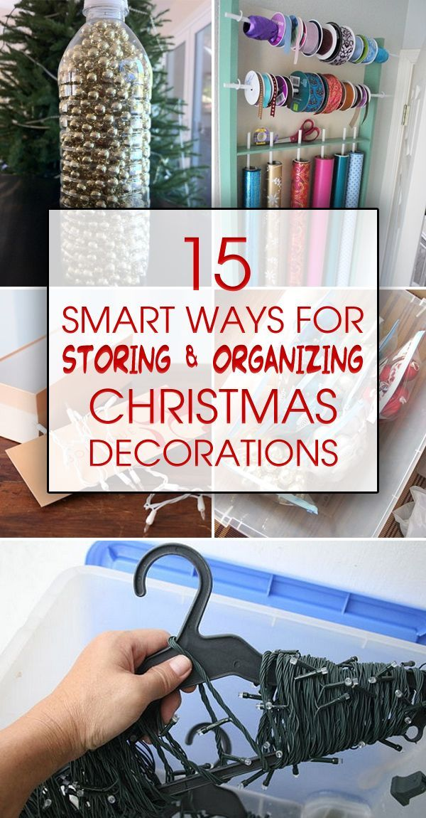Here are some clever ways to detangle, declutter, condense, and protect all your Christmas decorations.