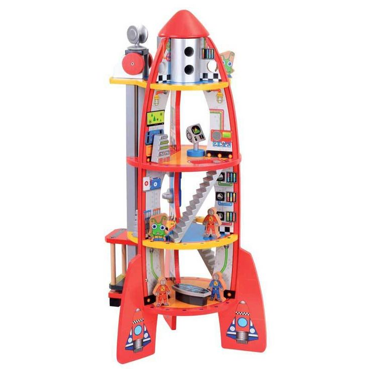 Buy Bubbadoo Wooden Rocketship with Accessories Online at Toy Universe