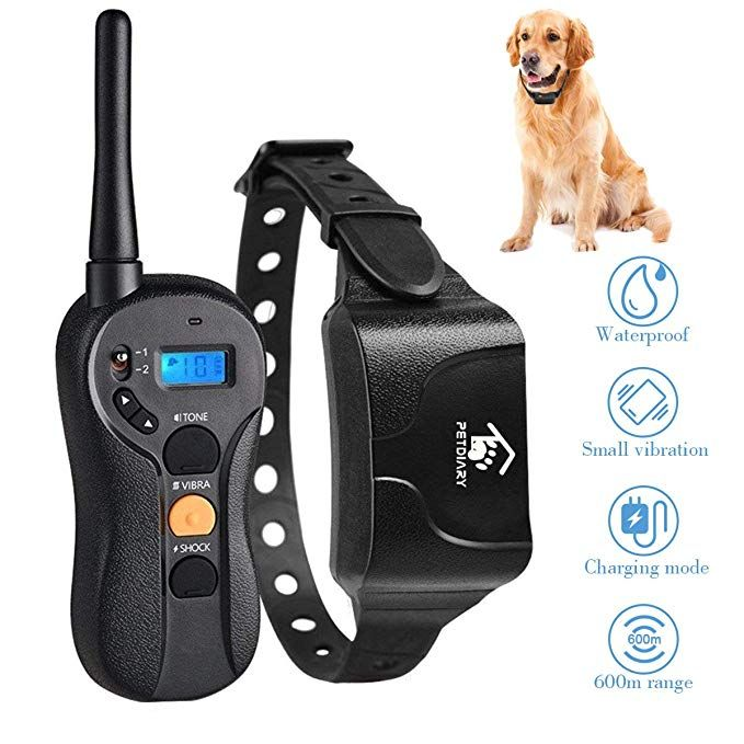 1000foot Remote Range 3 Training Mode Beep 0~99 Shock Levels Waterproof Rechargeable Dog Training Set Vibration and Shock BOIFUN Dog Training Collar W//Remote for Small Medium Large Dogs