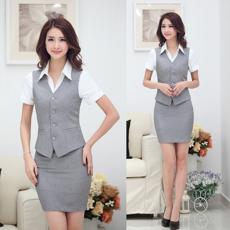 Cheap suit chic, Buy Quality women suit directly from China suit skirts for women Suppliers:        New Style, Hot Sale!     Fashion Women Suit ( Waistcoat/Vest + Skirt )     Formal Ladies Offi
