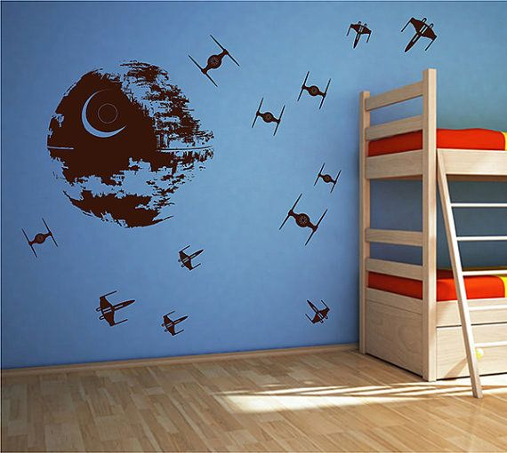 Hey, I found this really awesome Etsy listing at https://www.etsy.com/listing/463568177/kik2726-wall-decal-sticker-death-star