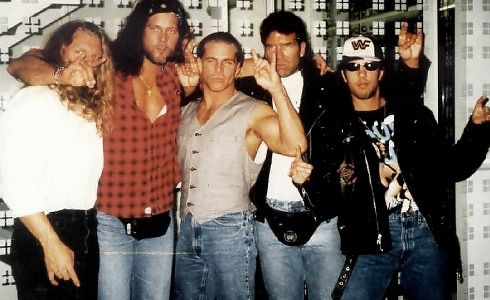 Kevin Nash, Triple H, Scott Hall, Sean Waltman and Shawn Michaels