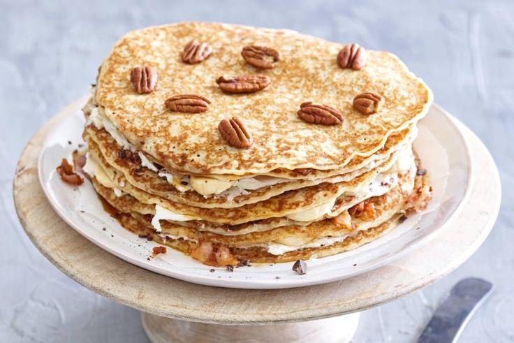 Zoet en hartig samen op een pannenkoek maken het een nog feestelijker brunchgerecht.- Recept - Allerhande