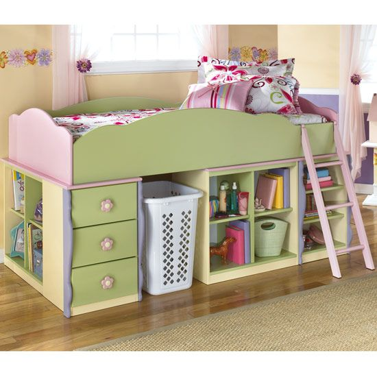 Pink Storage Bins Girls Flower Drawers Chest Dresser: 142 Best Images About Kids Beds On Pinterest
