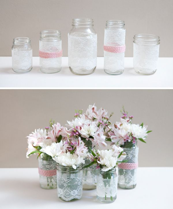 do it your self mason jar projects | ST_DIY_lace_mason_jars14