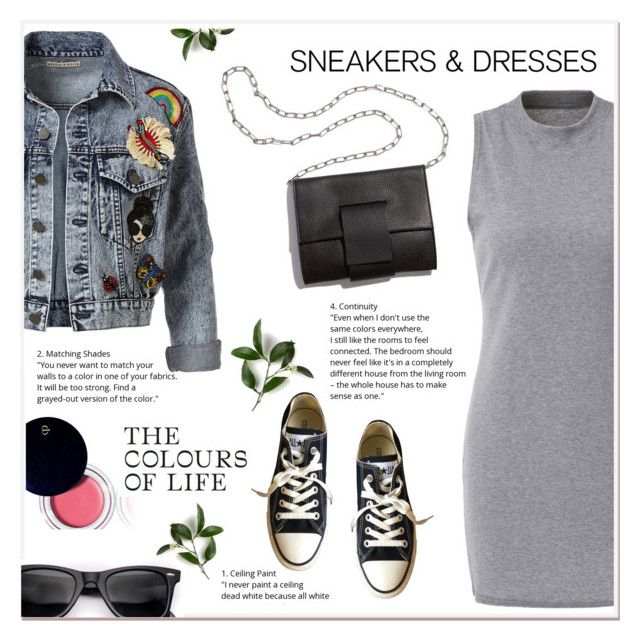 """Sneakers &Dresses"" by ladydzsen ❤ liked on Polyvore featuring Converse, Clé de Peau Beauté, Alice + Olivia, MM6 Maison Margiela and SNEAKERSANDDRESSES"