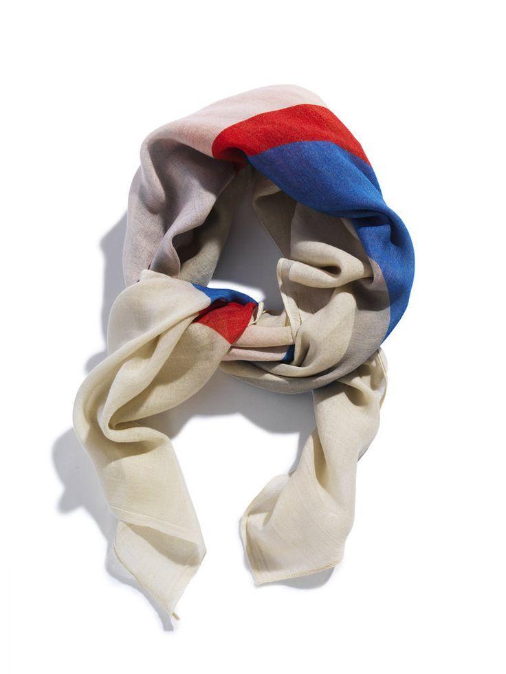David David® — Silk/cashmere scarf, print Carousel TPX 5
