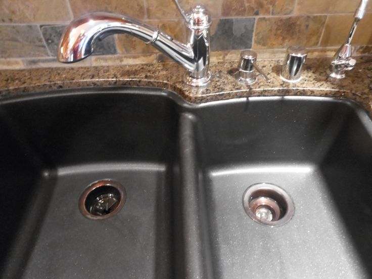 How to clean black granite composite sink.