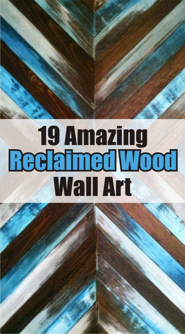 Beautiful wall art made from reclaimed wood. Pallet wood wall art. #ad