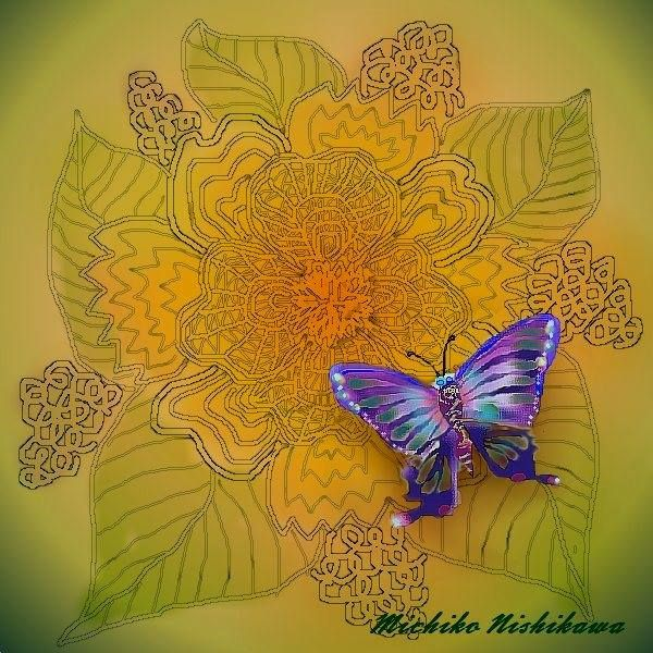 A flower and butterfly