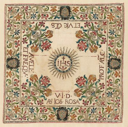 Italian - Chalice veil, Silk, embroidery