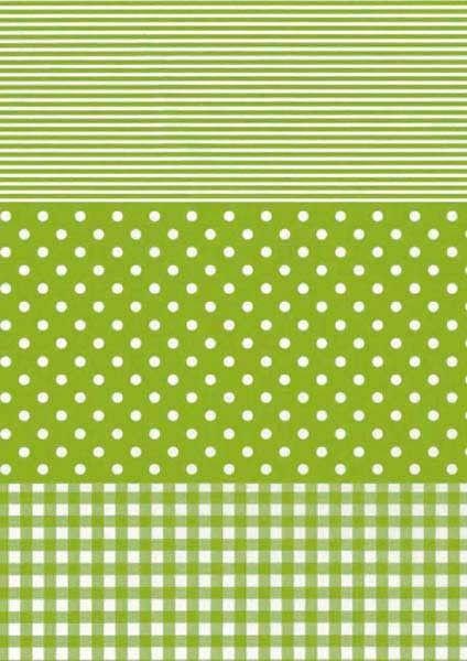 Decopatch Green Spots & Stripes Paper