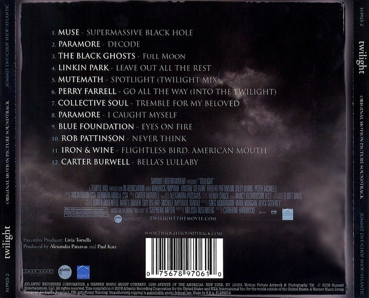 Twilight soundtrack. ..pretty good