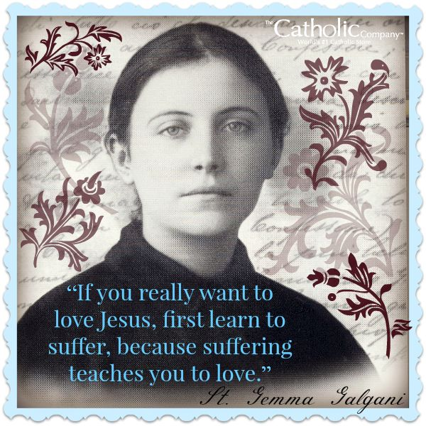 St. Gemma Galgani was an Italian mystic closely associated with the Passionist religious order. Throughout her life St. Gemma experienced great suffering, but not without many remarkable graces. After a selfless life of love given to God for the conversion of sinners, she died on the Vigil of Easter at the age of 25. She is the patron saint of pharmacists, loss of parents, back illnesses, temptations, and those seeking purity of heart.