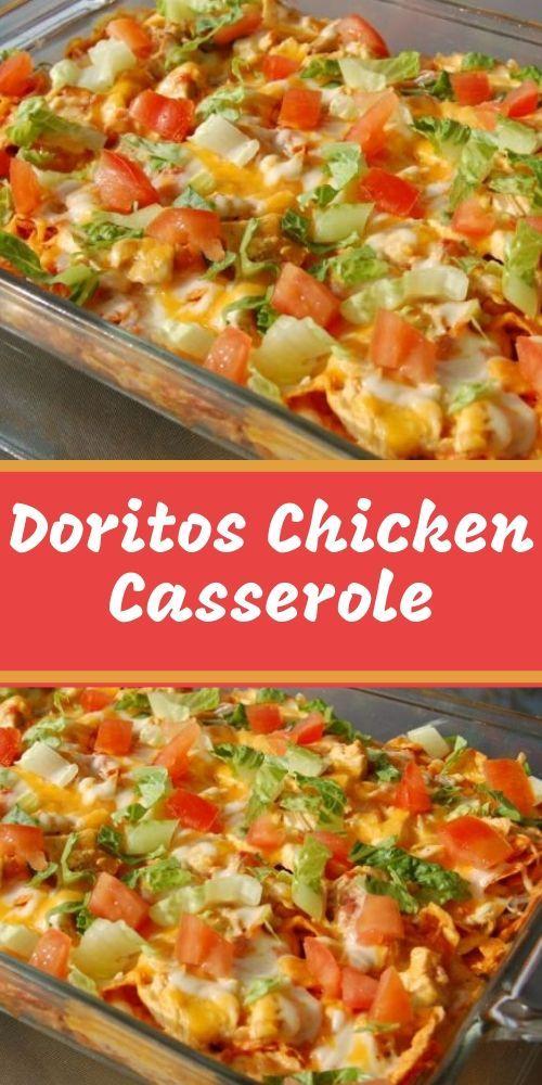 Dieser Dorito-Hühnchenauflauf ist eine einfache und schmackhafte Mahlzeit mit einem knusprigen … – Chicken dish