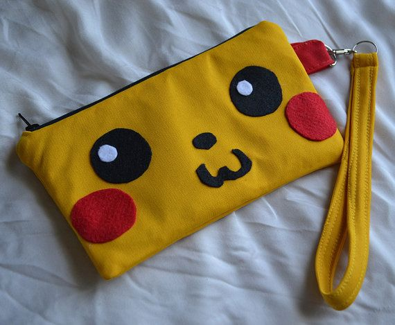 Pikachu Zipper Pouch by TheRobotique on Etsy, $12.00
