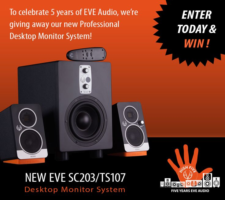 I just entered to WIN an Eve Audio Monitor System! You can too!