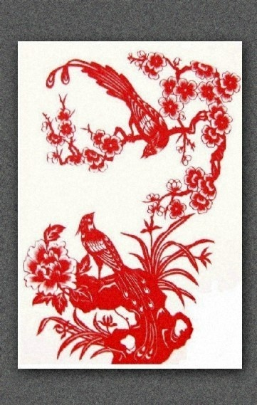 Bird  and cherry   handmade Paper Cut by SwipxaPapercut on Etsy,.