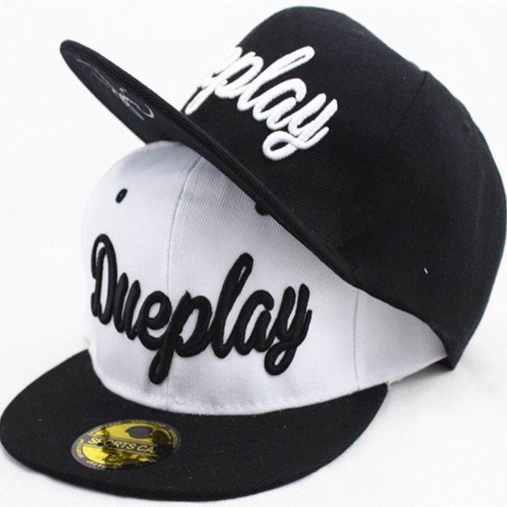 Новинка Dueplay вышивка открытый козырек от солнца Cap Snapback регулируемые плоским вдоль хип-хоп бейсболки для мужчин и женщин