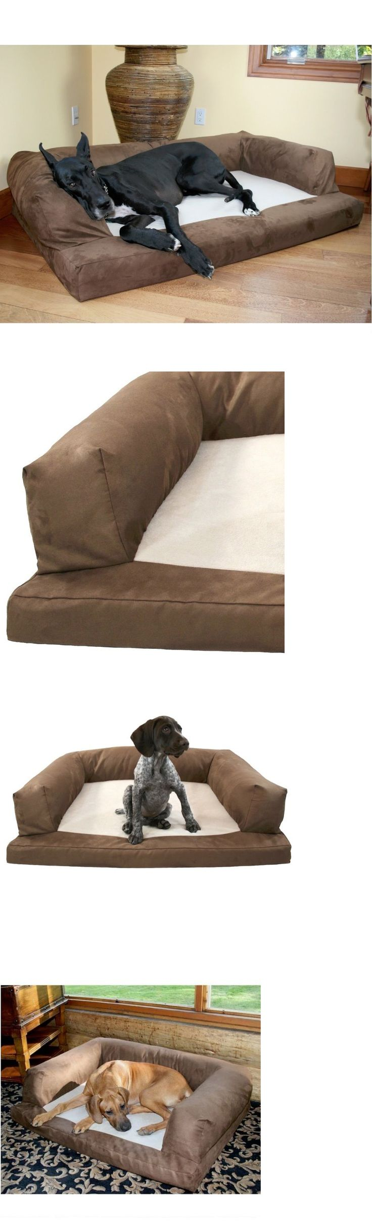 Beds 20744: Xxl Dog Bed Huge New Size 60X40 Orthopedic Xx-Large Breed Extra Giant Sofa Brown -> BUY IT NOW ONLY: $135.95 on eBay!