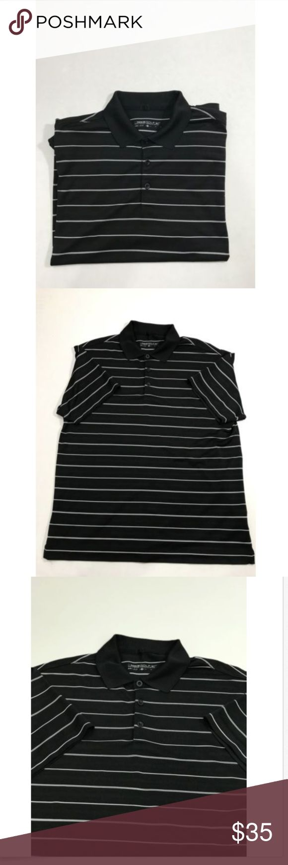 Nike Golf Men Dri-Fit Stripe Polo - Black/White M Nike Golf Men Dri-Fit  Stripe Polo - Black/White size M  New without tags   Please see pictures for full details   Ships fast and safe Shirts Polos