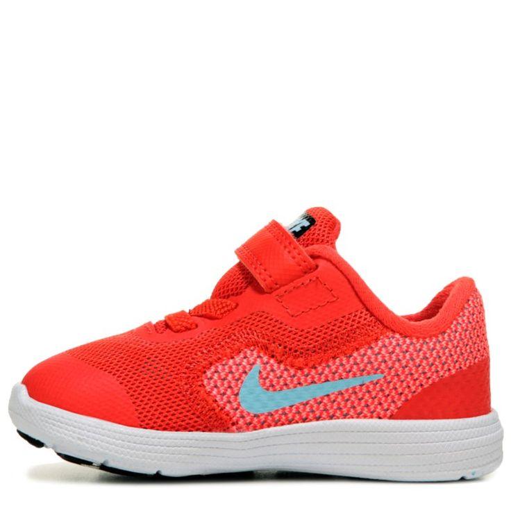 Nike Kids' Revolution 3 Running Shoe Toddler Shoes (Max Orange/Still Blu) - 8.0 M