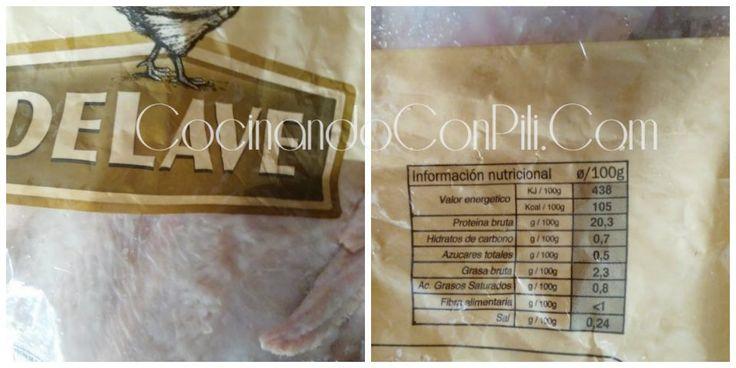 Valor nutricional del pollo fresco (para método weigtwatchers)