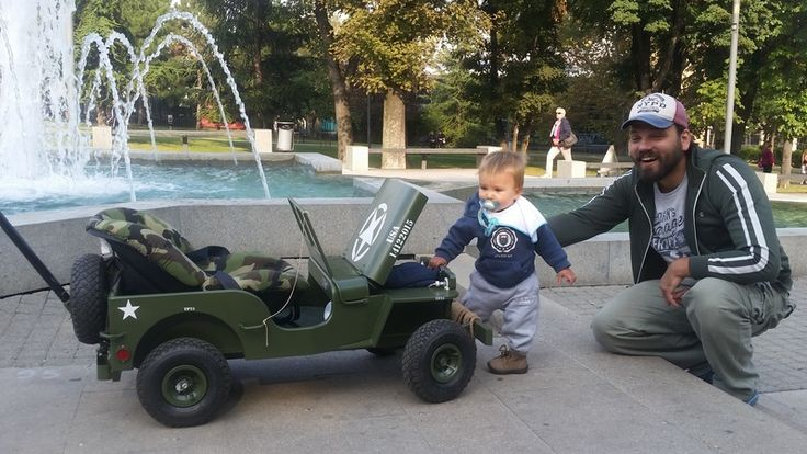 my Toddlers Willys mb jeep stroller . Fatherly  You can order it on fb.com/jovovicdesign