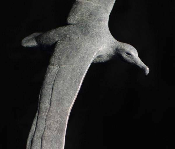 #Bronze #sculpture by #sculptor Anthony Smith titled: 'Albatross (Bronze Flying Gliding Soaring Albatross Bronze statue)'. #AnthonySmith