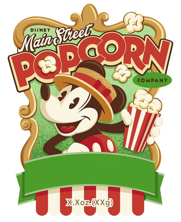 Main Street Popcorn Company Disney digital download perfect for Project Life, pocket scrapbooking, photo album etc. see more info: http://capturingmagic.me/disneyprojectlife