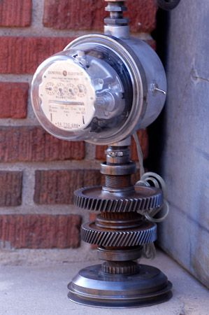 Base Of Electric Meter Lamp I Made My Industrial Lamps