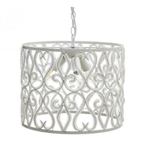 METALLIC_ACRILIC CEILING LAMP W_3 LIGHTS IN WHITE COLOR D36X34_5