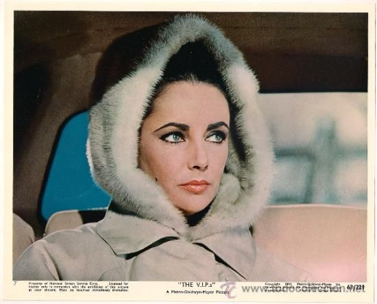 THE VIPS ELIZABETH TAYLOR ORIGINAL UK LOBBY CARD