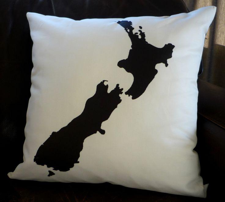 NZ Map cushion cover