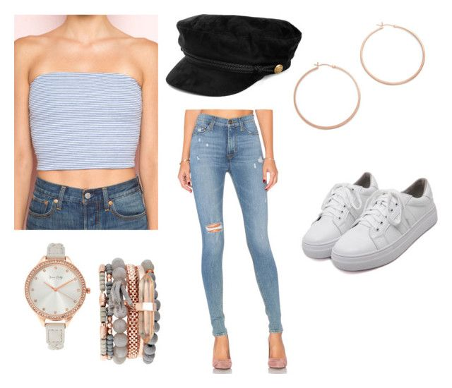 """""""Sem título #357"""" by beamiller1001 on Polyvore featuring moda, Hudson Jeans, Jennifer Zeuner, Jessica Carlyle e WithChic"""